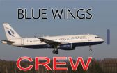 BLUE WINGS A320 Crew Tag